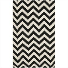 I decided I like the black and white with the wood panel walls. Safavieh Dhurrie Collection DHU557L-4 Handmade Wool Area Rug, 4 by 6-Feet, Black/Ivory Safavieh http://www.amazon.com/dp/B00B9SE5BC/ref=cm_sw_r_pi_dp_yQ4fub1B64HQ9