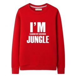 I'm League of Legends jungle sweatshirt plus size crew neck sweatshirts
