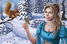 three hazelnuts #Tatjana #Willms #weewado #Tatiana #Winter #fantasy #girl #cinderella