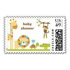 Mod Jungle Animal Postage Stamps Stamps