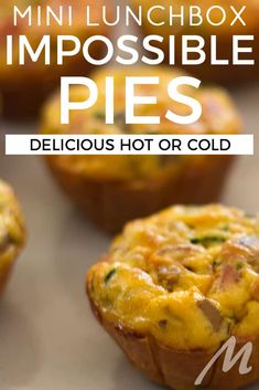 Mini impossible pies recipe: Easy and versatile for lunchboxes Mini Quiche Recipes, Lunch Box Recipes, Meal Recipes, Savory Muffins, Savory Snacks, Savoury Recipes, Tart Recipes, Muffin Tin Recipes, Baking Recipes