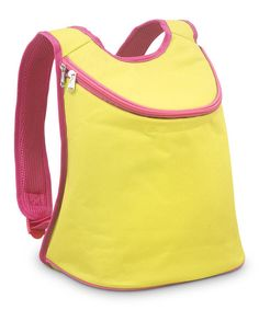 Another great find on #zulily! Yellow & Pink Color Block Backpack Cooler by Buckhead Betties #zulilyfinds