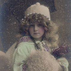 Edwardian Winter Girl with A Muff