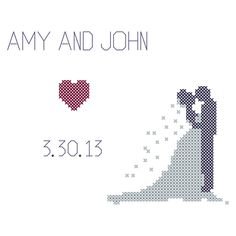 Bride And Groom Silhouette Cross Sch Pattern Wedding Counted Pdf