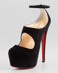 Maillot Cutout Platform Red Sole Red Sole Pump by Christian Louboutin at Neiman Marcus.