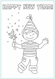 new year's coloring pages | New Year Coloring Pages Picture 7 – Printable Happy New Years ...