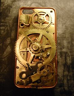 Etsy Steampunk case for iPhone 5 by Cyberart on Etsy, $56.00