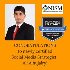 We are proud to welcome another SMS professional to our community.  Congratulations Ali!