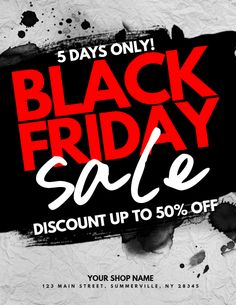 Copy Of Black Friday Sale Flyer PosterMyWall Retail Templates