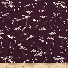 Art Gallery Playground Voile He Loves me Plum from @fabricdotcom  Designed by Amy Sinibaldi for Art Gallery Fabrics, this finely woven voile fabric is perfect for creating stylish blouses, shirts, or dresses and skirts with a lining. Colors include purple, shades of pink, green, blue, and white.
