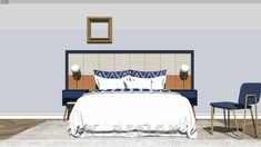 Beds and nightstands | 3D Warehouse Modele Sketchup, Top Furniture Stores, Modelos 3d, 3d Warehouse, Retro, Living Room Designs, Dining Table, Wall Decor, Interior Design