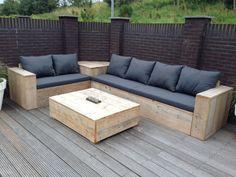 Pallet furniture outdoor patio diy projects yards 40 Ideas for 2019 Pallet Furniture Sofa, Outdoor Furniture Plans, Diy Garden Furniture, Furniture Ideas, Furniture Layout, Furniture Makeover, Furniture Design, Wood Patio, Diy Patio