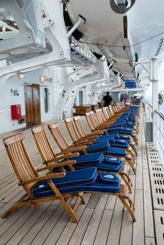 On Board the Queen Mary 2. Cunard's Cruise Liners travel across the Atlantic from Southampton to New York.
