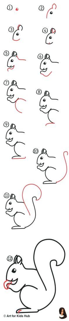 34 eichhörnchen malen einfach  besten bilder von ausmalbilder