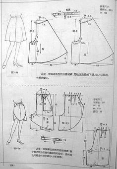 Sewing pants pattern costura Ideas for 2020 Sewing Pants, Sewing Clothes, Diy Clothes, Dress Sewing Patterns, Sewing Patterns Free, Clothing Patterns, Shirt Patterns, Pola Rok, Pattern Drafting