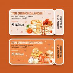Salted egg voucher design with cake, toa. Tostadas, Kfc Offers, Free Food Coupons, Food Catalog, Food Vouchers, Church Graphic Design, Salted Egg, Crepe Cake, Catalog Design