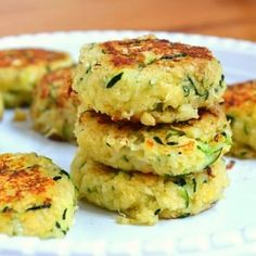 Zucchini Cakes -- like crab cakes, but healthier and more vegetarian-friendly. Just as delicious, though!