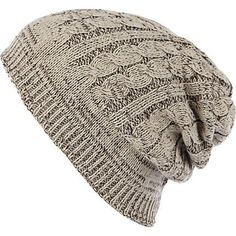 b8b6563556f Ecru cable knit beanie hat Cable Knit