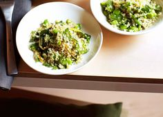 Australian Gourmet Traveller recipe for quinoa, broad bean and preserved lemon salad by Matt Stone from Perth restaurant Greenhouse.