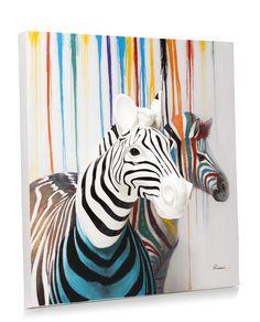 3-D wand object Zebra Couple - 100 x 100 cm. Shop je online en zonder verzendkosten bij deleukstemeubels.nl Snel leverbaar!