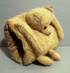 Antique Mohair Teddy Bear Child's MUFF  Zo'n mof had ik als klein meisje.