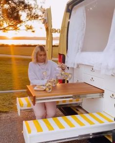 "Van Boy Life on Instagram: ""• Relaxing Friday evenings here😍 . Really impressed by this pull out table and bench, basically means you have your own, private picnic…"""