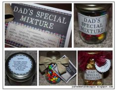 fathers day ideas   Free Printable Father's Day Mason Jar Labels, Coupons, Treasure Hunt