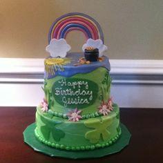 St Pattys day birthday cake