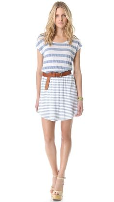 Splendid Marseille Chambray Stripe Dress.   Perfect casual dress for Summer!