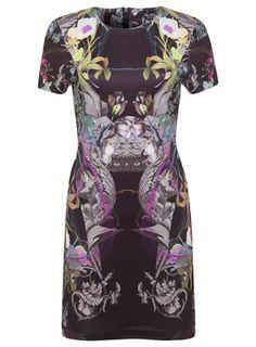 Floral Print Panel Dress - View All - Dress Shop
