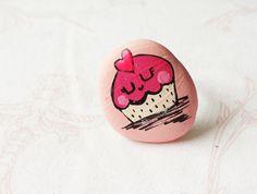 Cupcake ring pink jewelry for girls teen girls accessories cute daughter gift pink birhday present cupcake heart best friend jewelry
