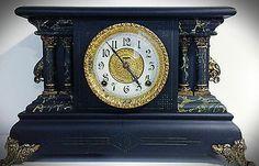 Rare Beautiful Antique Ingraham Mantle Clock - Adrian Model - Late 1800s - 1900s