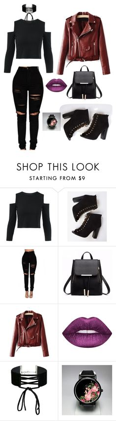 """""""#tenue#black#perfecto"""" by mathilde-thieuleux-echantillon ❤ liked on Polyvore featuring Miss Selfridge"""