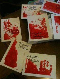 """Maybe Dexter would have Harrison make these kinds of cards? Not sure my family would appreciate cards like these...     """"My baby is an artist! - Baby DIY Greeting Cards"""""""