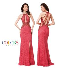 Strappy and Sexy! COLORS DRESS Style 1128. #fashion #couture #sexy #prom #ball #gown #beauty #love