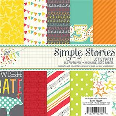 Simple Stories 5322 Lets Party DoubleSided Paper Pad 24 Pack 6 by 6 Multicolor >>> Click on the image for additional details.Note:It is affiliate link to Amazon. #ScrapBooking