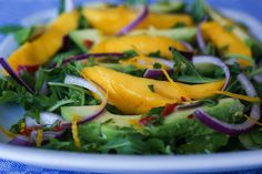 SCD Mango Chicken Salad w/ Pineapple Ginger Dressing (*Use SCD legal chicken, substitute honey for maple syrup & used unsweetened flaked coconut. Paleo Recipes, Real Food Recipes, Yummy Recipes, Recipies, Mango Chicken Salads, Fennel And Orange Salad, How To Eat Paleo, Going Paleo, Raw Vegetables