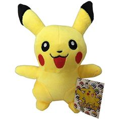 "8"" Pokemon Pikachu Plushie. Stuffed Pikachu Toy. Pokemon Stuffed Animals Pikachu. Pokemon Plush Pikachu Toy. Pokemon Pikachu Plush Toy. New Pokemon Figure. Pikachu Stuffed Animal. Pikachu Doll. ** Visit the image link more details. (This is an affiliate link) #PlushFigures"