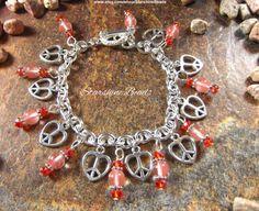Red Cherry Quartz Peace Heart Bracelet by StarshineBeads on Etsy #charmbracelets #redcherryquartzbracelet #redcherryquartzjewelry #redcherryquartz #cherryquartzbracelet #cherryquartzjewelry #peacebracelet #lovebracelet #heartbracelet #peace #love #peacelove #peacejewelry #heartjewelry #lovejewelry #charmbracelets #silverjewelry #silverbracelets #silverjewellery #jewelry #jewellery #red #pink #orange #cherry #giftsforher #hippiejewelry #hippiebracelet