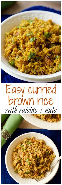 Curried brown rice salad – Family Food on the Table An easy one-pot cold curried rice salad with bright citrus notes and raisins, nuts and cilantro folded in Indian Food Recipes, Whole Food Recipes, Vegetarian Recipes, Cooking Recipes, Healthy Recipes, Rice Salad Recipes, Brown Rice Recipes, Rice Dishes, Food Dishes