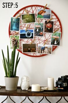 As photos are extremely important for both of us, we're always searching for unique and fun ways to display them. I found this picture online that inspired me to make the following photo display my...