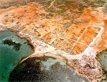 Vista aérea de la isla de Cubagua
