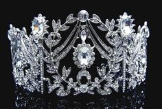 Check out this item in my Etsy shop https://www.etsy.com/ca/listing/260322842/bridal-rhinestone-tiara-crown-silver