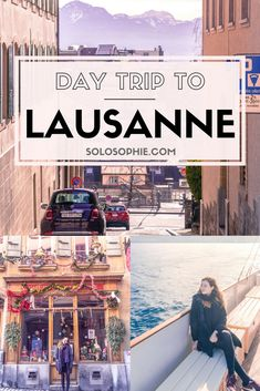 Day trip to Lausanne, Switzerland. Best things to do in Lausanne, a pretty Swiss town with museums and views onto the Alps. Ferry day trip from Evian les Bains in France to Lausanne in Switzerland.