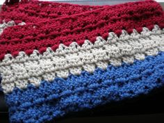 """""""Hand crocheted scarf, inspired by the French flag. """"  $45.00  www.WoolenDiversions.etsy.com  - what a cute way to put a little Parisian love in your outfit.     (or if you're a Hetalia France fan, even better)"""