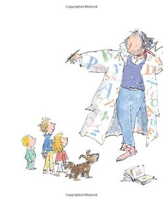 Quentin Blake's ABC: Amazon.co.uk: Quentin Blake: Books Vintage Illustration Art, Illustration Styles, Chris Riddell, Quentin Blake Illustrations, Tony Ross, Powerpoint Presentations, Roald Dahl, Portrait Ideas, Drawing For Kids