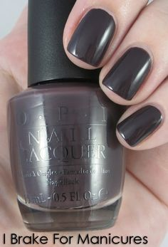 This may be my new favorite color (wearing it now). Kind of charcoal, kind of purple. A great dark color for fall/winter.