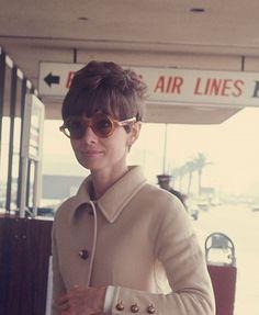 Audrey Hepburn at the airport, New York, c.1970