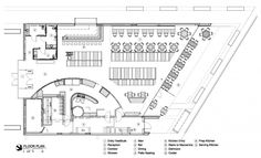 Floor Plan Cafe 501 / Elliott + Associates Architects