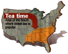 """The only place to find true sweet tea. Glad to see they included us southern Virginia folks cause we are southern as anyone in the """"South"""""""
